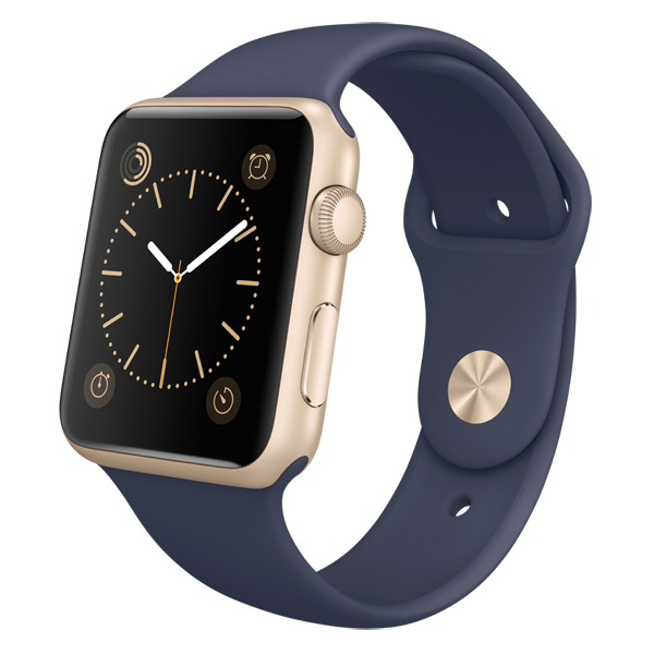 �����-���� Apple Watch Sport 42mm Gold Al/Mid.Blue (MLC72RU/A)
