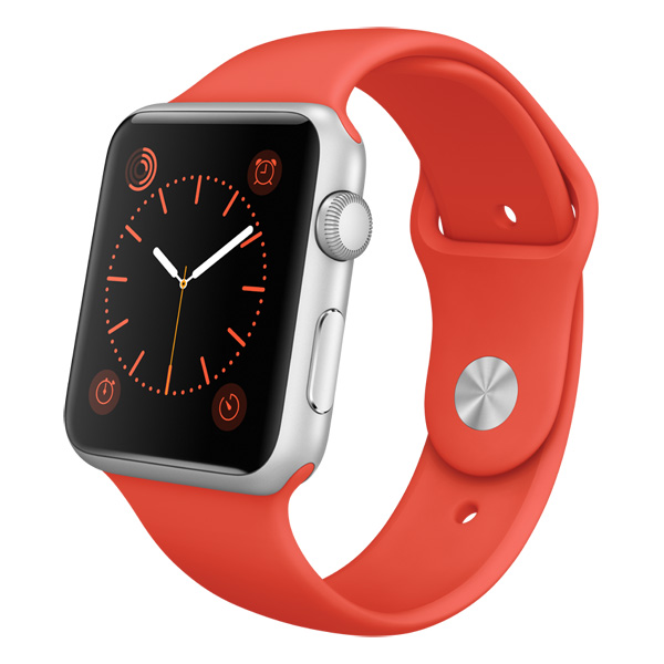 Смарт-часы Apple Watch Sport 42mm Silver Al/Orange (MLC42RU/A)