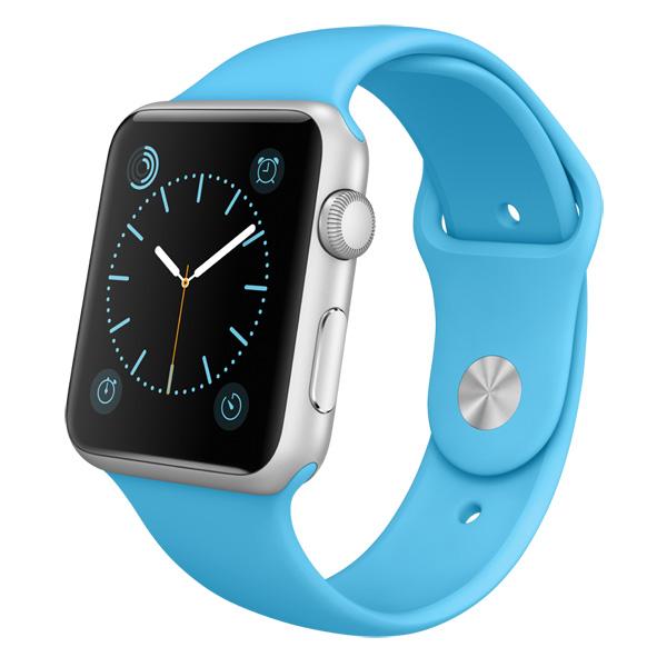 �����-���� Apple Watch Sport 42mm Silver Al/Blue Sport (MLC52RU/A)