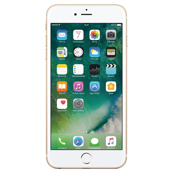 Смартфон AppleiPhone<br>Кабель для связи с ПК: в комплекте,<br>Материал корпуса: алюминий/ стекло,<br>Разъем 3.5 мм для подкл. гарнитуры: 1,<br>Тип SIM карты: nano-SIM,<br>Базовый цвет: золотой,<br>Разрешение фотокамеры: 12 МПикс,<br>Датчик отпечатков пальцев: Да,<br>Встроенный модуль Bluetooth: 4.2,<br>Запись GPS-координат снимка: Да,<br>GPS модуль: Да,<br>Ширина: 78 мм,<br>Качество видеосъемки: 3840х2160 Пикс (Ultra HD 4K),<br>Цвет: золотой,<br>Разъем Lightning: 1,<br>Глубина: 8 мм,<br>Сенсорный дисплей: Да,<br>Высота: 159 мм,<br>Стабилизатор изображения: оптический<br>
