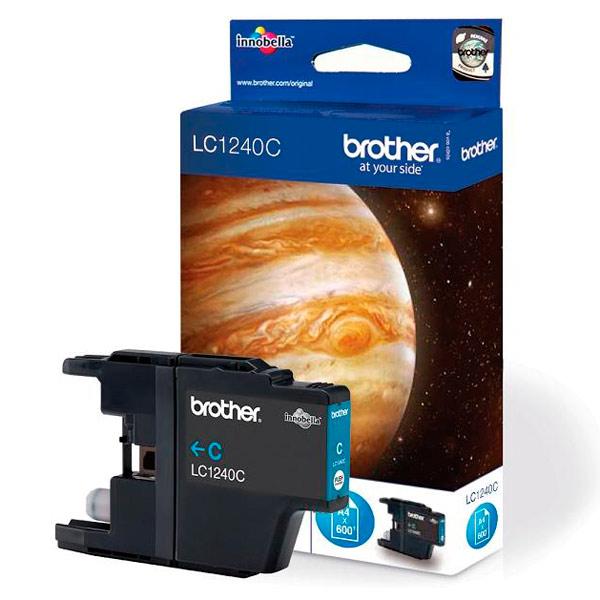 Картридж для струйного принтера BrotherКартриджи для струйных принтеров<br>Цвет чернил: голубой,<br>Картриджей в комплекте: 1,<br>Ресурс цветного картриджа (A4): 600 стр,<br>Серия: Innobella,<br>Номер картриджа: LC1240C<br>