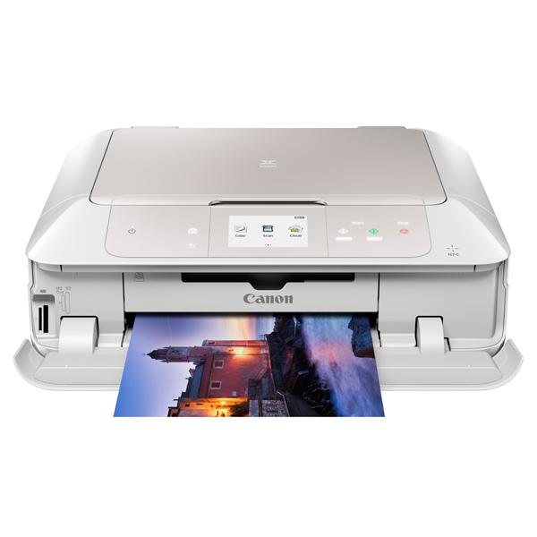 Струйное МФУ CanonСтруйные МФУ<br>Тип принтера: струйный цветной,<br>Диагональ дисплея: 3.5 ,<br>Вес: 7.9 кг,<br>Оптическое разреш. сканера: 2400x4800 т/д,<br>Скорость печати текста до: 15 стр/мин,<br>Масштабирование: 25 - 400 %,<br>Программное обеспечение: в комплекте,<br>Картриджей в комплекте: 6,<br>Лоток приоритет. подачи: до 20 листов,<br>Печать без полей: Да,<br>Wi-Fi точка доступа: Да,<br>Тип сетевой карты: 10/100 Fast Ethernet,<br>Интерфейс связи с ПК: Wi-Fi/ LAN/ USB,<br>Тип карты памяти: SD, SDHC, SDXC, MS DUO,<br>Вид гарантии: гарантийный талон<br>