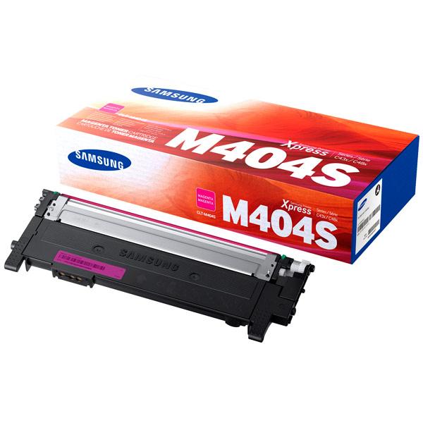 Картридж для лазерного принтера Samsung - SamsungКартриджи для лазерных принтеров<br>Картриджей в комплекте: 1,<br>Номер картриджа: CLT-M404S/XEV,<br>Цветной картридж: Да,<br>Ресурс картриджа (A4): 1000 страниц,<br>Цвет порошка: пурпурный<br>