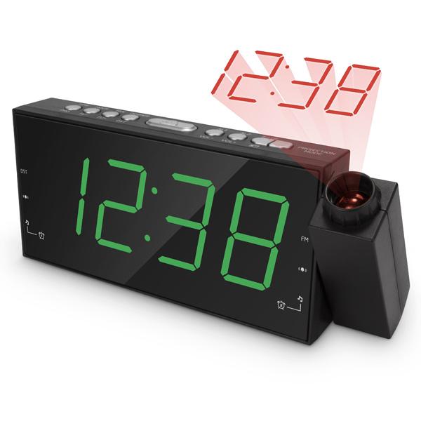 Радио-часы teXetРадио-часы<br>Гарантия: 1 год,<br>Цифровой тюнер: 10 УКВ+FM,<br>Страна: КНР,<br>Тип управления: электронный/механич.,<br>Вес: 243 г,<br>Проекция текущего времени: Да,<br>Материал корпуса: пластик,<br>Встроенные часы: Да,<br>Цвет светящихся символов: зеленый,<br>Цифровой дисплей: 1,<br>Тип батареи для сохр.настроек: 2 x AAA (LR 03),<br>Проекция на стену/ потолок: 1 режим (красный),<br>Блок питания: в комплекте,<br>Питание от сети 220 В: Да,<br>Звук: моно,<br>Вид гарантии: гарантийный талон,<br>Будильник: 2,<br>Цвет: черный<br>