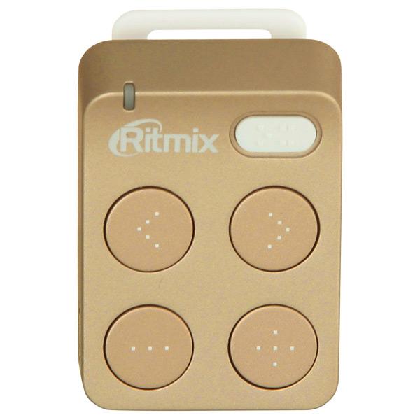 Портативный медиаплеер RitmixFlash MP3 плееры<br>Воспроизведение WMA: Да,<br>Серия: RF,<br>Воспроизведение MP3: Да,<br>Карта памяти: 16 ГБ,<br>Работа от аккумулятора: до 6 часов,<br>Воспр. в случайном порядке: Да,<br>Гарантия: 1 год,<br>Страна: КНР,<br>Индикация разрядки батарей: Да,<br>Порт microUSB 2.0: 1,<br>Габаритные размеры (В*Ш*Г): 48*32*17 мм,<br>Интерфейс связи с ПК: USB 2.0,<br>Зарядка от USB порта: Да,<br>Встроенная память (ROM): 4 ГБ,<br>Тип карты памяти: microSD,<br>Вид гарантии: гарантийный талон,<br>Разъем для наушников 3.5 мм: 1,<br>Тип аккумулятора: Li-Ion<br>