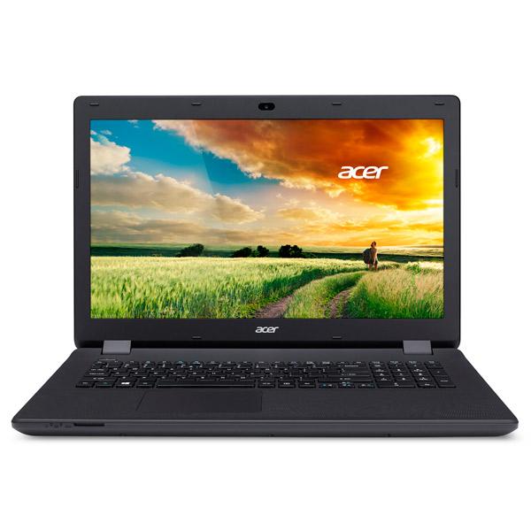 Ноутбук AcerНоутбуки<br>Габаритные размеры (В*Ш*Г): 28*424*290 мм,<br>Тип памяти: DDR3L SDRAM,<br>Количество слотов памяти : 1,<br>Ширина: 424 мм,<br>Производитель процессора: Intel,<br>LAN разъем (RJ45): 1,<br>Частота памяти: 1600 МГц,<br>Диагональ/разрешение: 17.3/1600x900 пикс.,<br>Диагональ экрана: 17.3(43.9 см),<br>Встроенный динамик: 2,<br>Вид гарантии: по чеку,<br>Вес: 3 кг,<br>Цвет: черный,<br>Поддержка Gigabit LAN: Да,<br>Глубина: 290 мм,<br>Высота: 28 мм,<br>Разъем Kensington Lock: Да,<br>Выход HDMI: 1,<br>Операционная система: Windows 10 Домашняя 64<br>