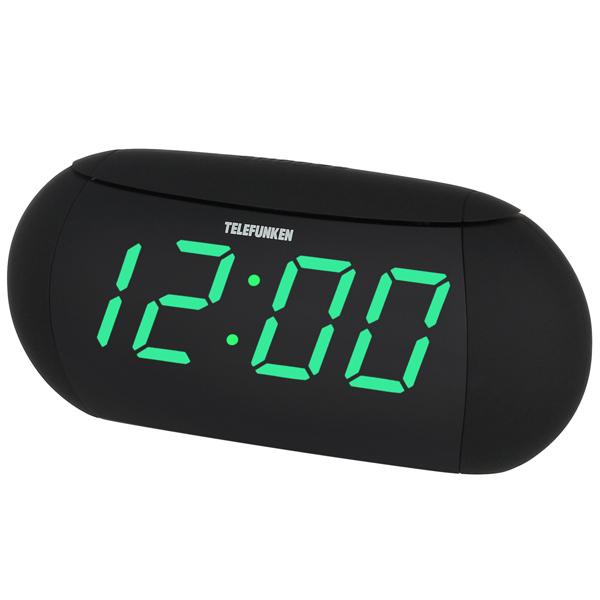 Радио-часы TelefunkenРадио-часы<br>Вход 3.5 мм аудио: 1,<br>Материал корпуса: пластик,<br>Тип карты памяти: SD,<br>Габаритные размеры (В*Ш*Г): 96*220*60 мм,<br>Питание от сети 220 В: Да,<br>Пульт ДУ: в комплекте,<br>Блок питания: в комплекте,<br>Звук: стерео,<br>Цифровой тюнер: 30 УКВ+FM,<br>Воспр. медиафайлов с цифр.носителей: Да,<br>Порт USB 2.0: 1,<br>Тип батареи для сохр.настроек: 2 х AG 13,<br>Вид гарантии: гарантийный талон,<br>Страна: КНР,<br>Будильник: 2,<br>Цифровой дисплей: 1,<br>Гарантия: 1 год,<br>Тип управления: электронный/механич.,<br>Воспр. MP3 с цифр. носителей: Да<br>