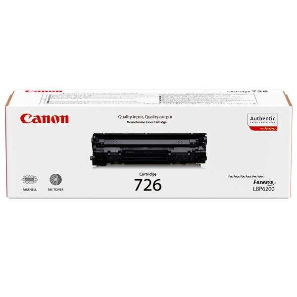 Картридж для лазерного принтера CanonКартриджи для лазерных принтеров<br>Ресурс картриджа (A4): 2100 страниц,<br>Номер картриджа: 726,<br>Картриджей в комплекте: 1,<br>Черный картридж: Да,<br>Цвет порошка: черный<br>