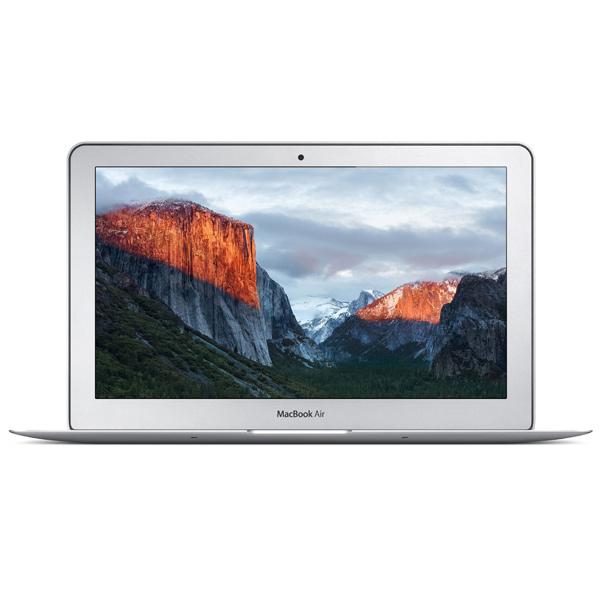 Ноутбук AppleНоутбуки Apple MacBook<br>Диагональ экрана: 11.6(29.4 см),<br>Bluetooth (версия): 4.0,<br>Разрешение матрицы: 1 МПикс,<br>Встроенный динамик: 2,<br>Материал корпуса: алюминий,<br>Тип памяти: LPDDR3 SDRAM,<br>Производитель процессора: Intel,<br>Производитель видеокарты: Intel,<br>Диагональ/разрешение: 11.6/1366x768 пикс.,<br>Серия: MacBook Air,<br>Разъем для наушников 3.5 мм: 1,<br>Кэш-память: 3 МБ,<br>Макс. такт. частота: 2.7 ГГц,<br>Страна: КНР,<br>Поддержка Wi-Fi: IEEE 802.11 a/b/g/n/ac,<br>Подсветка клавиш: Да,<br>Гарантия: 1 год<br>