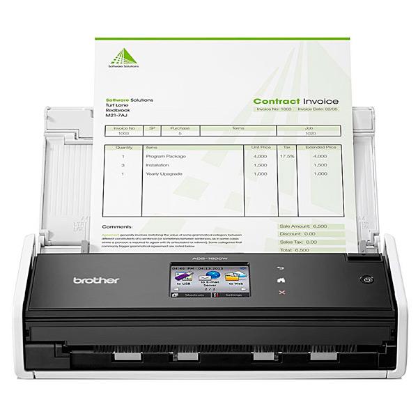 Сканер Brother ADS1600W (ADS1600WR1) протяжной сканер brother ads 1100w
