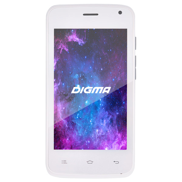 Смартфон Digma Linx A400 3G 4Gb White digma linx a420 3g 4гб белый dual sim 3g