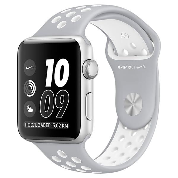 Apple Watch Nike+ 38mm Silver Al/White (MNNQ2RU/A) apple watch nike 38mm silver al white mq172ru a