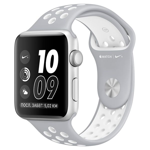 Apple Watch Nike+ 42mm Silver Al/White (MNNT2RU/A) apple watch nike 38mm silver al white mq172ru a