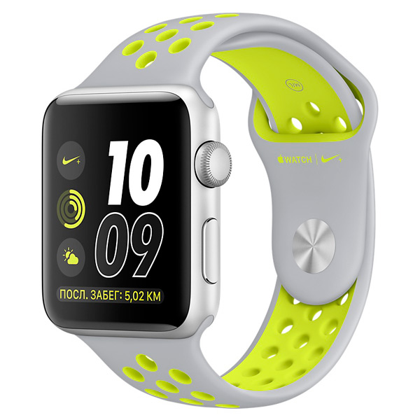 Смарт-часы Apple Watch Nike+ 38mm Silver Al/Volt (MNYP2RU/A)