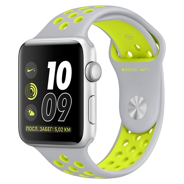 Смарт-часы Apple Watch Nike+ 42mm Silver Al/Volt (MNYQ2RU/A)