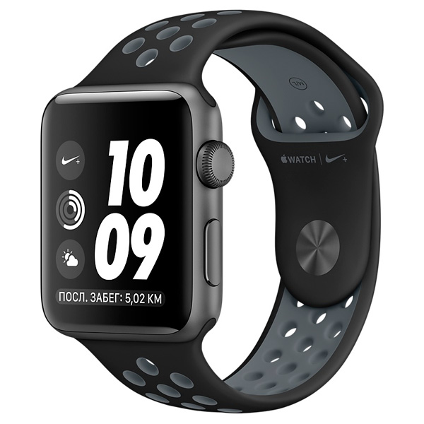Смарт-часы Apple Watch Nike+ 38mm Sp.Grey Al /CoolGrey (MNYX2RU/A)