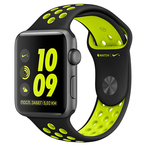 Смарт-часы Apple Watch Nike+ 38mm Space Grey Al /Volt (MP082RU/A)