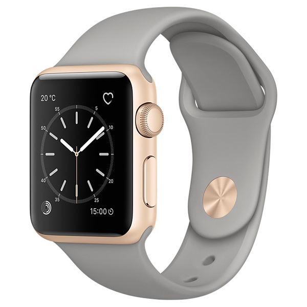 Смарт-часы Apple Watch S1 Sport 38mm Gold Al/Concrete (MNNJ2RU/A)