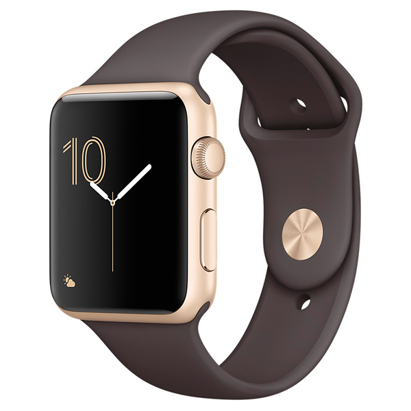 �����-���� Apple Watch S1 Sport 42mm Gold Al/CocoaSport MNNN2RU/A