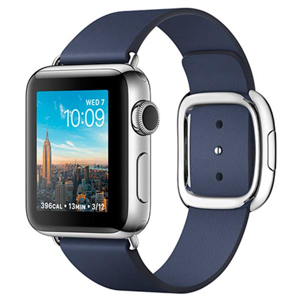 Смарт-часы Apple Watch S2 38mm St.Steel/BlueMod.Buck.L (MNPA2RU/A)