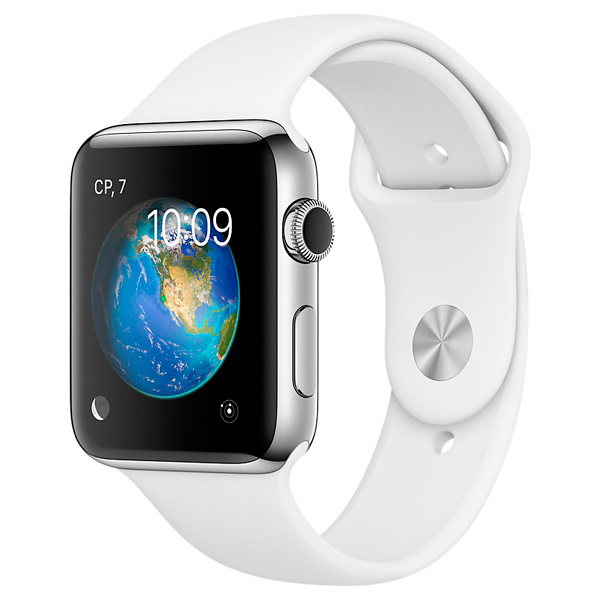 Смарт-часы Apple Watch S2 Sport 42mm St.Steel/White (MNPR2RU/A)