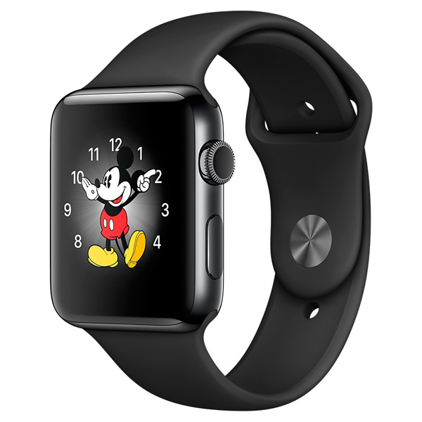Смарт-часы Apple Watch S2 Sport 42mm Sp.Bl St.St/Sp.Bl (MP4A2RU/A)