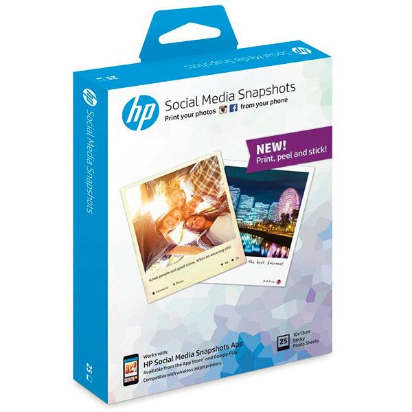 Фотобумага для принтера HP Social Media Snapshots 25 листов 10x13см(W2G60A)