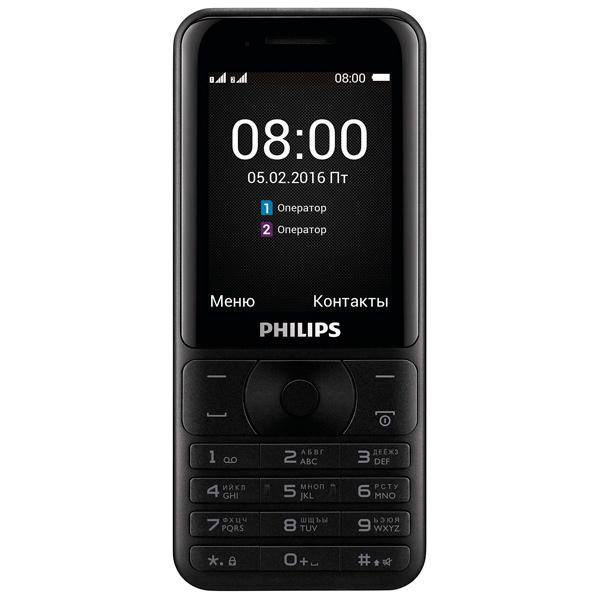 Мобильный телефон Philips Xenium E181 Black philips philips xenium v377 черный 8гб 2 sim