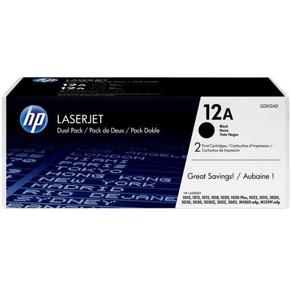 Картридж для лазерного принтера HP 12А Black (Q2612AF)  недорого
