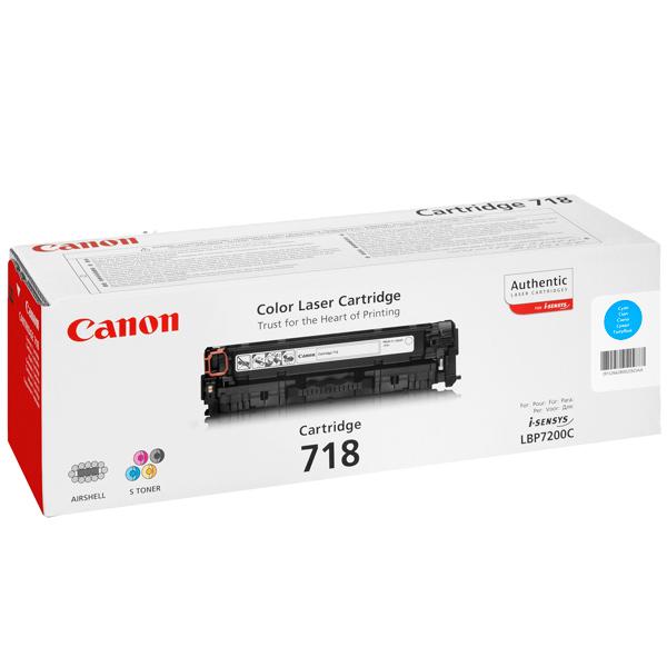 Картридж для лазерного принтера Canon 718 Cyan картридж canon 732c голубой [6262b002]