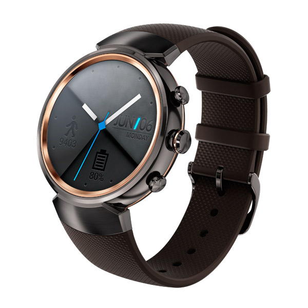 Смарт-часы ASUS ZenWatch 3 WI503Q Rubber Strap Brownish Gray asus zenwatch 3 wi503q leather strap beige
