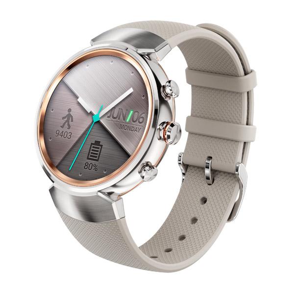 Смарт-часы ASUS ZenWatch 3 WI503Q Rubber Strap Beige смарт часы asus zenwatch 3 wi503q gunmetal черный металлик коричневый ремешок wi503q 1rgry0011 90nz0062 m00680