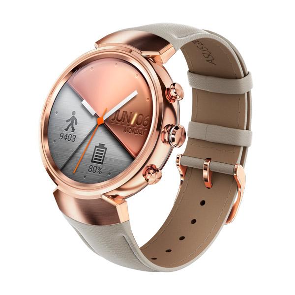 Смарт-часы ASUS ZenWatch 3 WI503Q Leather Strap Beige смарт часы asus zenwatch 3 wi503q gunmetal черный металлик коричневый ремешок wi503q 1rgry0011 90nz0062 m00680