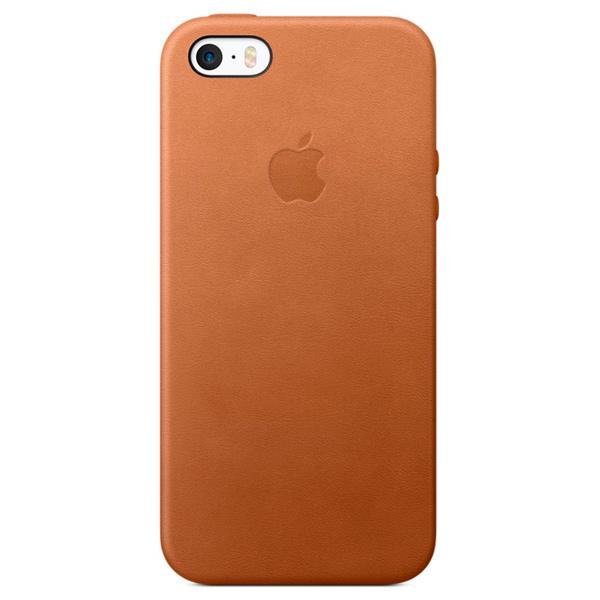 Кейс для iPhone Apple iPhone SE Leather Case Saddle Brown (MNYW2ZM/A) apple leather case black для iphone se mmhh2zm a