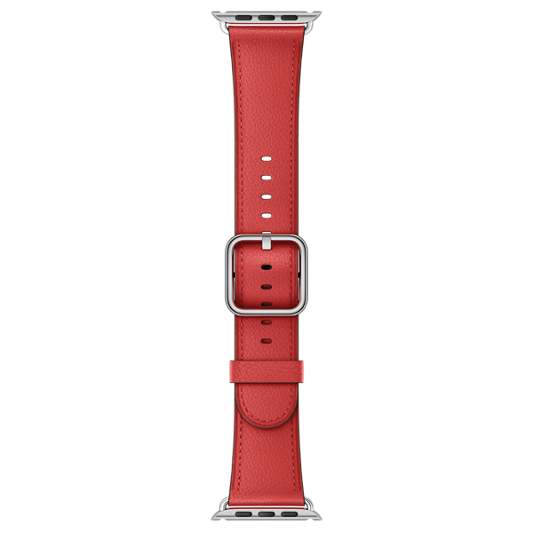 Ремешок Apple 38mm Red Classic Buckle (MPWE2ZM/A) coteetci w6 luxury stainless steel magnetic watchband for apple watch series 1 series 2 38mm gold