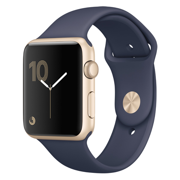 Смарт-часы Apple Watch S2 Sport 42mm Gold Al/Blue (MQ152RU/A) coteetci w6 luxury stainless steel magnetic watchband for apple watch series 1 series 2 38mm gold