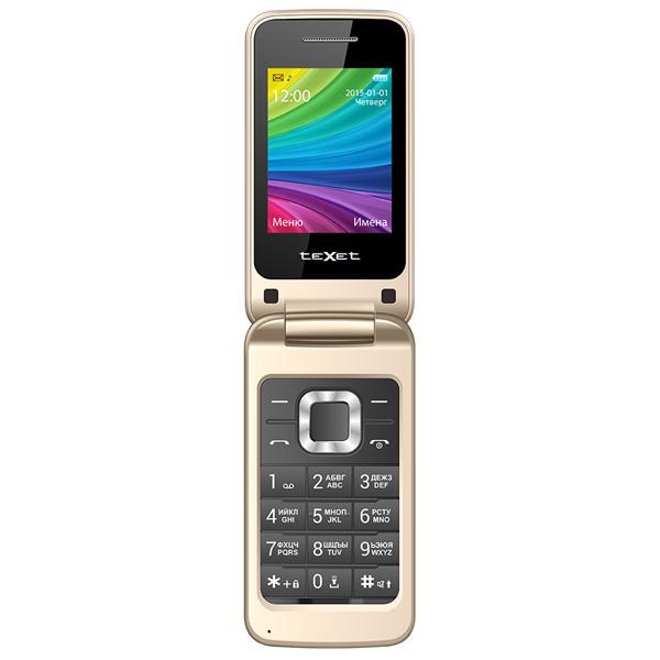 Мобильный телефон teXet TM-204 бежевый