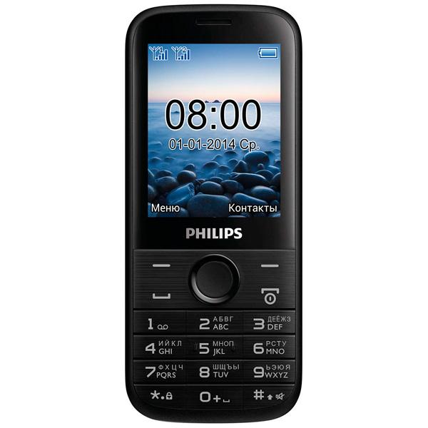 Мобильный телефон Philips E160 Xenium Black philips philips xenium v377 черный 8гб 2 sim