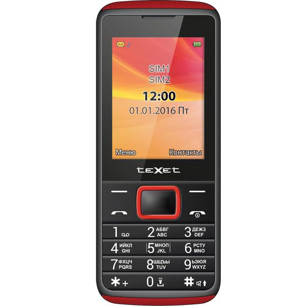 Мобильный телефон teXet TM-214 Black-Red