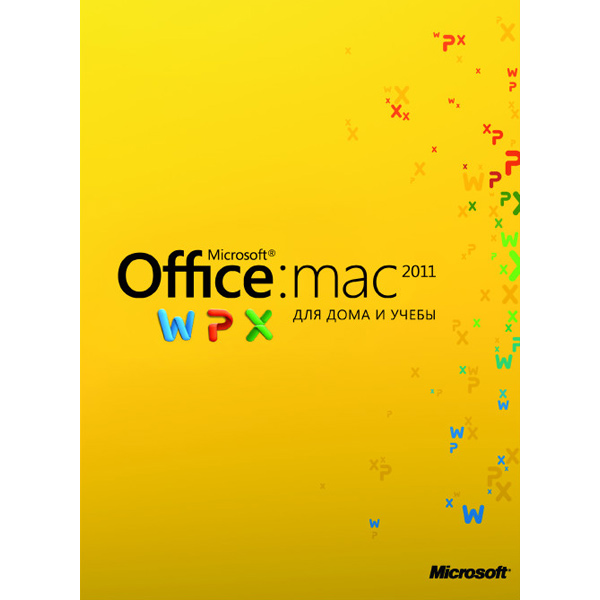 ПО Microsoft Office:Mac 2011 для дома и учебы на 3 компьютера