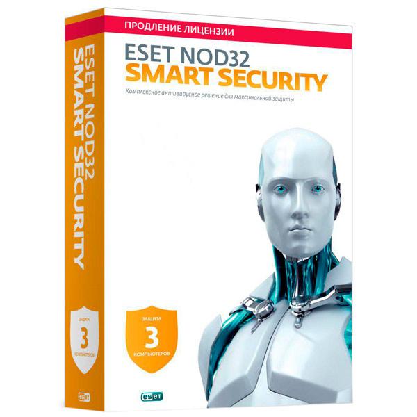 Антивирус ESET NOD32 Smart Security Продл.лиц.на 1 г.на 3ПК