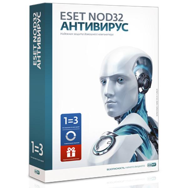 ПО NOD32 Антивирус+Bonus+р.ф. ESET