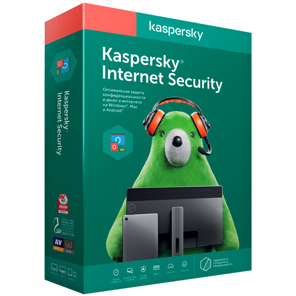 Kaspersky Продлен.лиценз.Kaspersky Internet Security 2ПК/1г