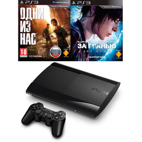 Игровая приставка PS3 Sony 500GB+За гранью:Две души+Одни из нас ...