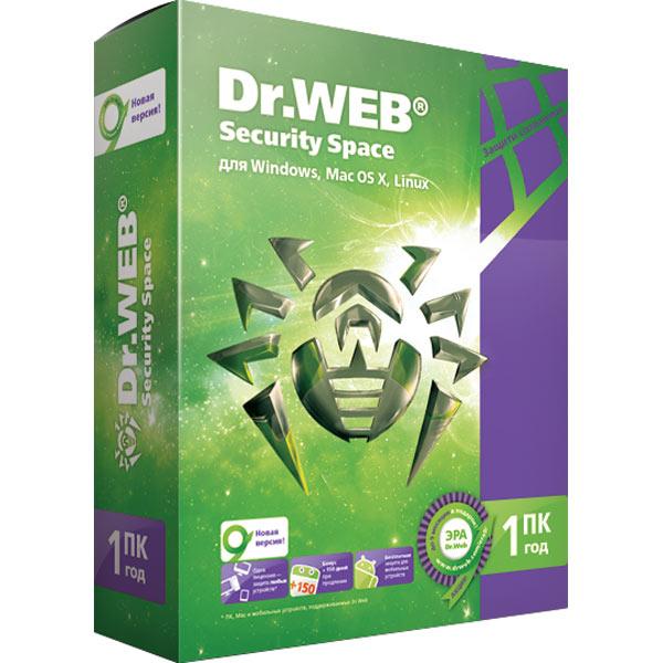 Антивирус Dr.Web Security Space на 12 мес. на 1ПК
