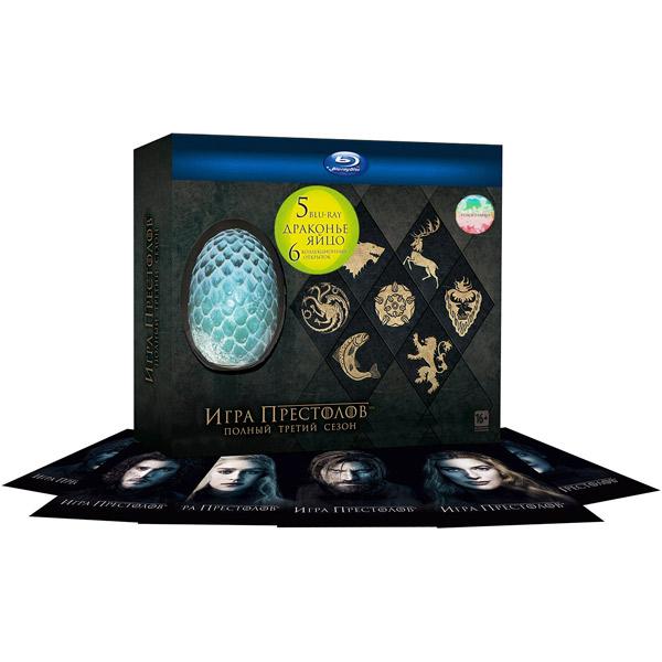 Blu-ray диск Медиа Игра престолов. Сезон 3 (5 BD) + яйцо + открытки