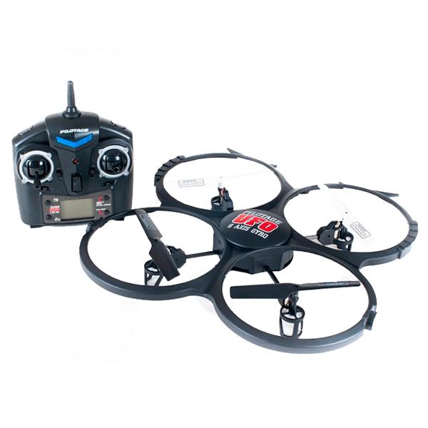Радиоуправляемый квадрокоптер Pilotage RC15771 6 Axis UFO с камерой