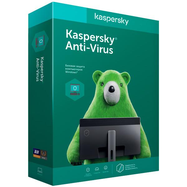 Антивирус Kaspersky Anti-Virus 2015, 2ПК 1 год, базовая лицензия