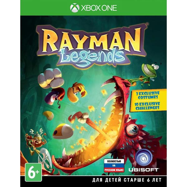 Видеоигра для Xbox One . Rayman Legends  ubisoft rayman legends sony playstation 3