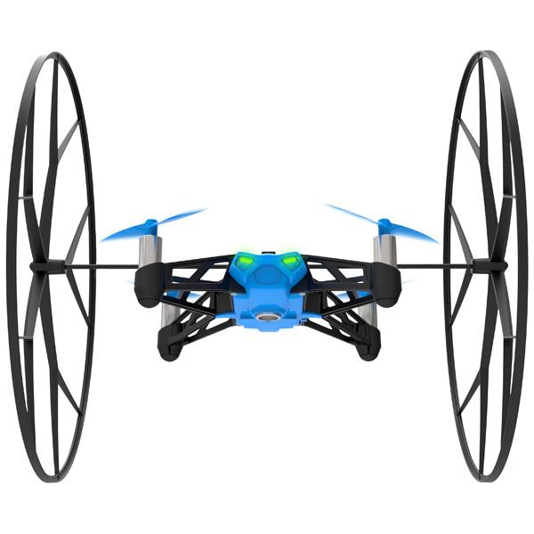 Радиоуправляемый квадрокоптер Parrot Робот Rolling Spider Blue